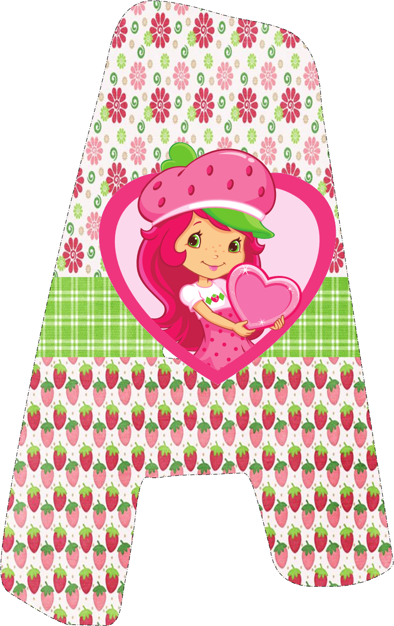 Alfabeto de Strawberry Shortcake.