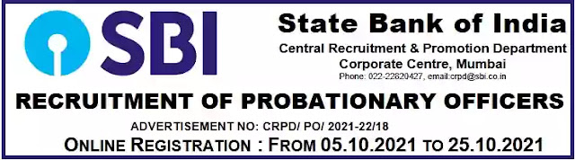 SBI Recruitment 2056 Probationary Officers Vacancy 2021