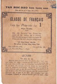 Lớp Học Pháp Văn Tập 1 - Phạm Tất Đắc