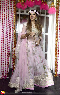 Bipasha mehendi outfit by Anushree Reddy