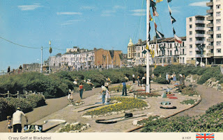 Crazy Golf at Blackpool. B.1531. A Dennis Postcard. Postally used and sent from Oldham to Luton. Undated