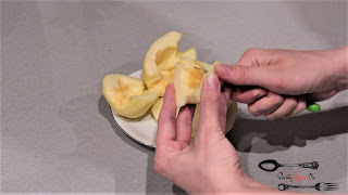 obrane jabłka, plasterki jabłek