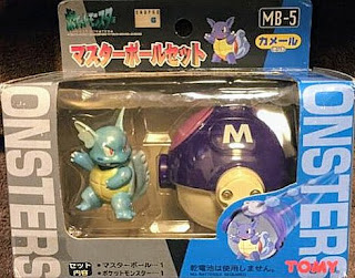 Wartortle figure Tomy Monster Collection Master Ball Set