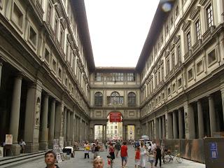 The Piazzale degli Uffizi Gallery in Florence