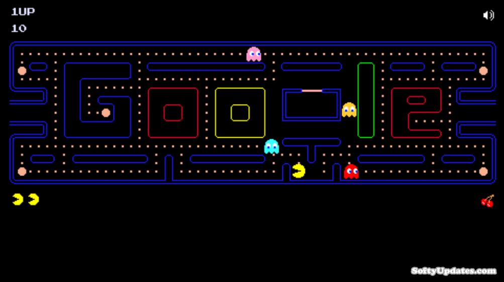 Doodle celebrates Arcade Games: PAC-MAN