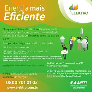 Jacupiranga recebe projeto energia mais eficiente da ELEKTRO