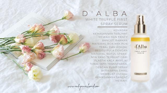d'Alba White Truffle First Spray Serum, Skincare
