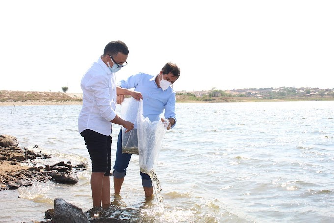 SDA realiza peixamento para pescadores artesanais de Canindé