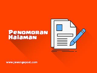 Tutorial Dasar Microsoft Word Memberikan Nomor pada Halaman