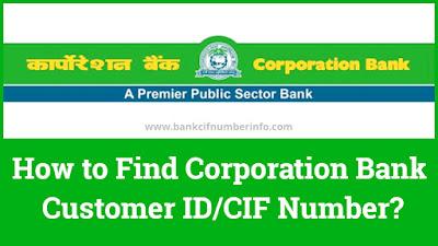 Corporation Bank Customer id