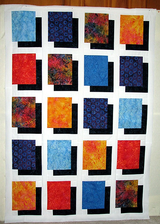 Fat Quarter Shadow Quilt Free Tutorial designed by Denise McKay of Beyond Sock Monkeys