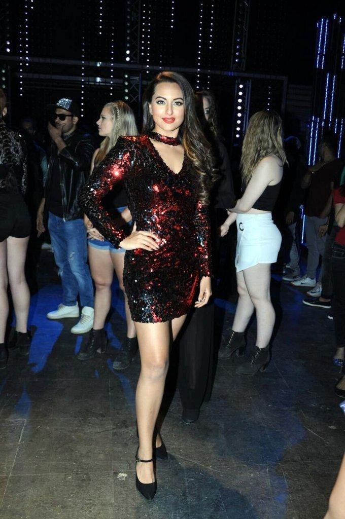 Sonakshi Sinha At Film Song launch In Mini Maroon Dress