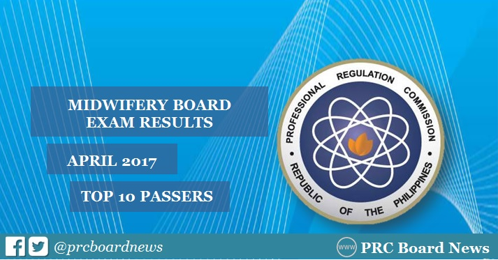 TOP 10 PASSERS: April 2017 Midwife board exam results