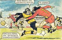 Eddie Hamilton and Mervyn Wallace clash (1976/77)