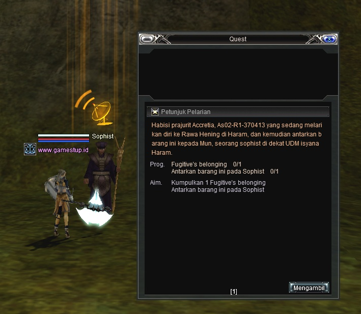 Quest Upgrader 1-7 B Bangsa Cora RF Online