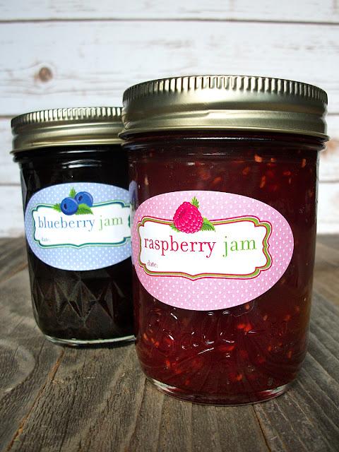 Fruit Jam Jar Canning Labels | CanningCrafts.com