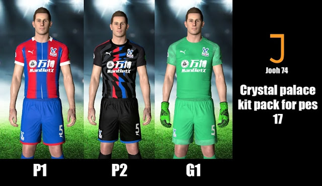 PES 2017 Crystal Palace 2019-2020 Kits