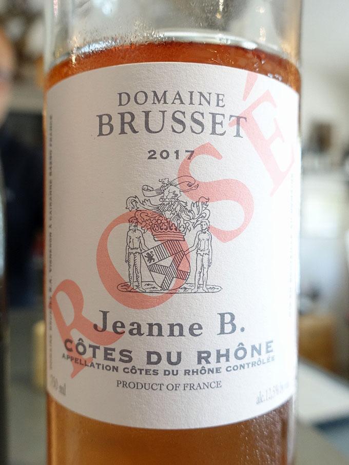 Domaine Brusset Jeanne B. Côtes du Rhône Rosé 2017 (88+ pts)