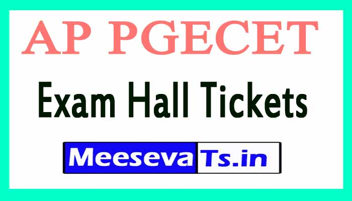 AP PGECET Exam Hall Tickets Download 2018