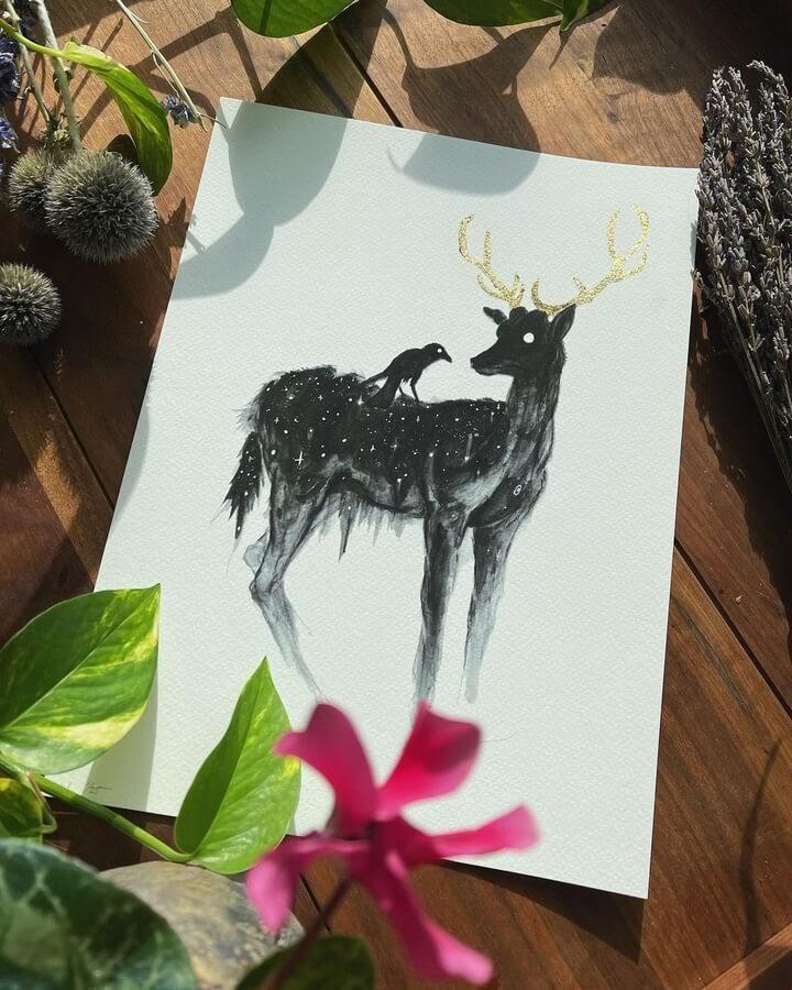 14-Friends-Deer-and-crow-Brian-Serway-www-designstack-co