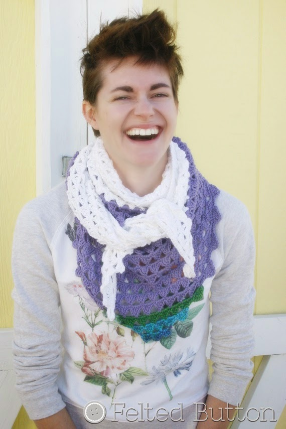 Triangle of Triangles Scarf Crochet Pattern by Susan Carlson of Felted Button