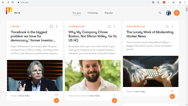 ماهو موقع ميكس mix.com؟ وكيف يمكن الإستفادة منه بالنسبة للباحثين عن المعرفة وقراءة الأخبار وغير ذلك؟ وكذلك بالنسبة لناشري المحتوى؟ كل هذا وغيره سوف نتعرف عليه في هذا المقال.