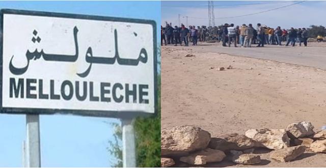 المهدية : محتجو أولاد جاب الله يحتجزون شاحنة محملة بـ30 طنا من مادة السداري