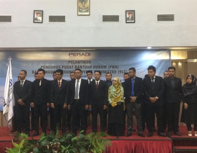 PERADI Lantik  Pengurus Young Lawyers Committee