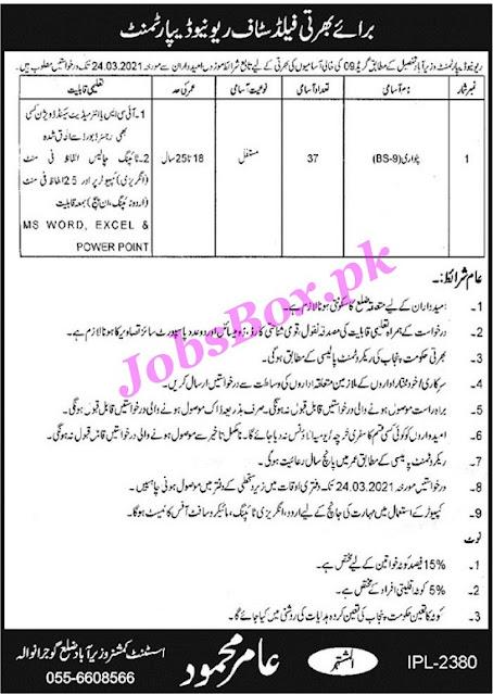 revenue-department-wazirabad-patwari-jobs-2021