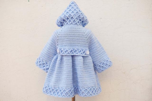 2 -Crochet Imagen Abrigo azul a crochet y ganchillo por Majovel Crochet