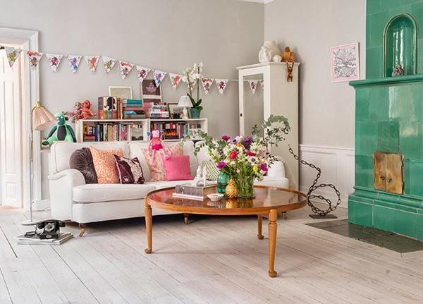 Scandinavian Vintage Style Living Room