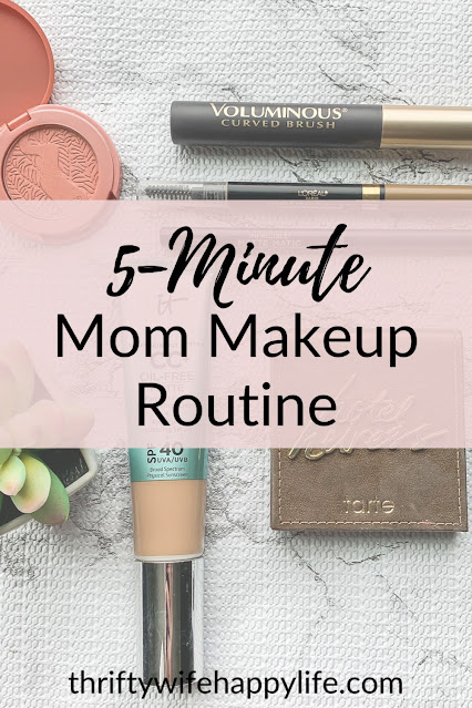 Quick 5-minute mom makeup routine #mommakeup #makeup
