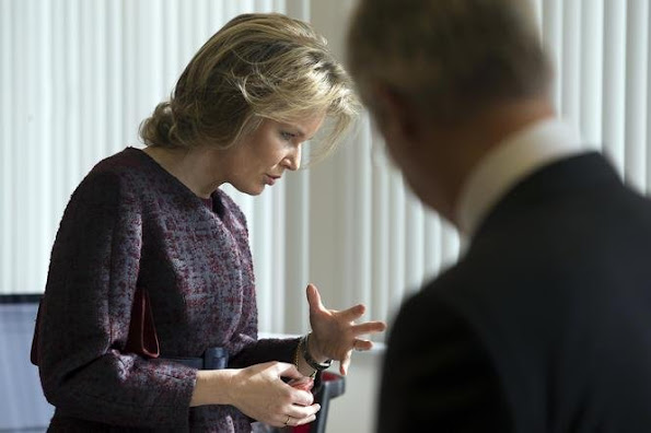 King Philippe and Queen Mathilde of Belgium visit to the province of Antwerp, Belgium. They visited Talander, a centre for people with mental disabilities, in Arendonk, the company Cartamundi in Turnhout