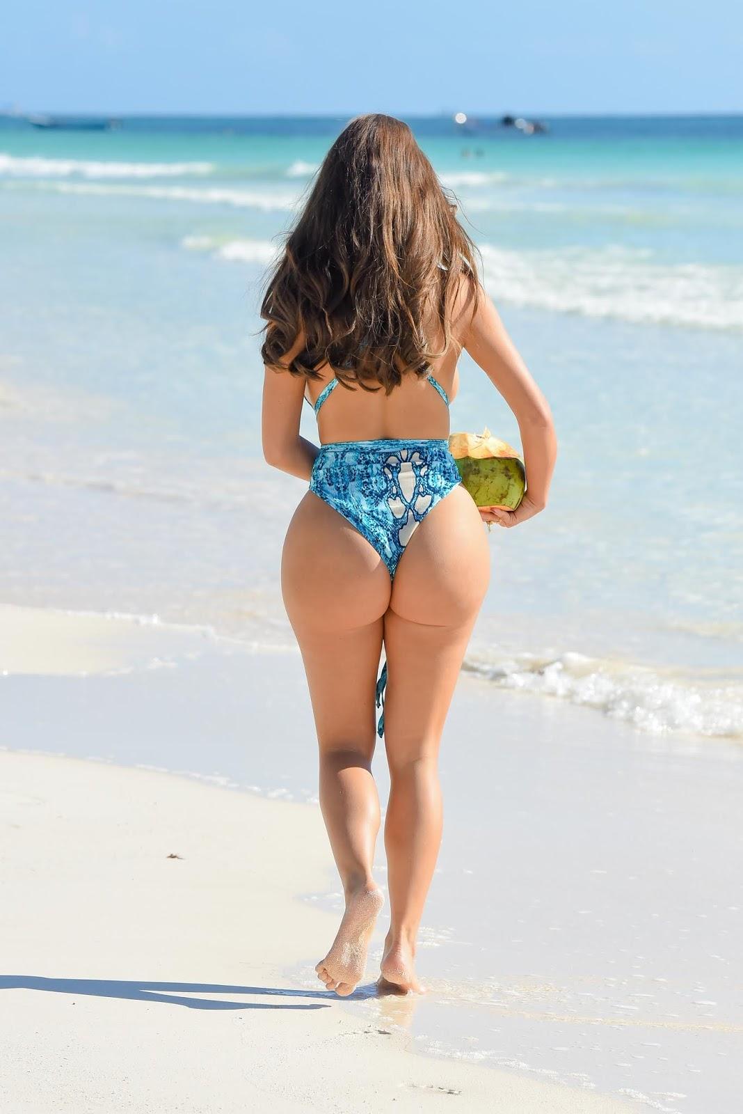 Demi Rose - Swimsuit photo shoot in Tulum Mexico