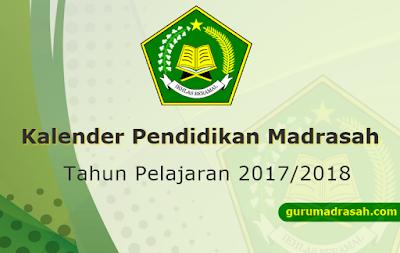 Kalender Pendidikan Madrasah Tahun Pelajaran 2017-2018