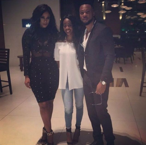 Flavour attends the birthday dinner of his first babymama, Sandra Okagbue (photo)