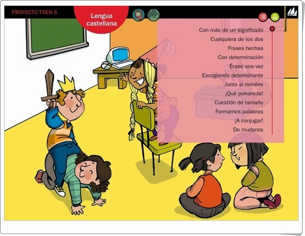 """Actividades digitales de Lengua Española. 5º de Primaria. Editorial La Galera"""