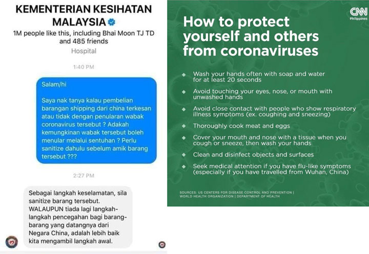 Coronavirus Malaysia Health Ministry