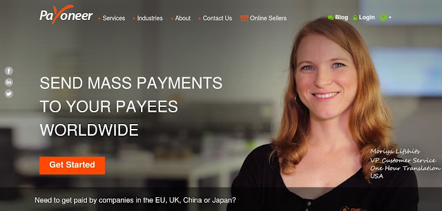 Payoneer Homepage compared