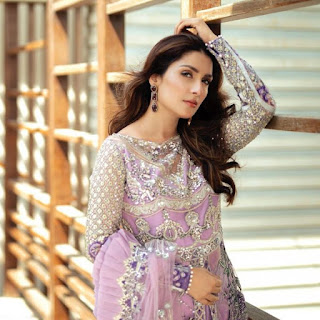 Ayeza Khan Photo Shoot In Purple Outfit is Stunning