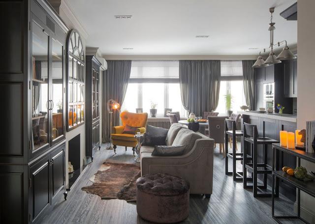 Роскошный интерьер квартиры в английском стиле от Натальи Комовой