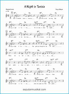 chord a night in tunisia lagu jazz standar