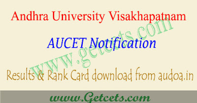 AUCET Results 2020-2021 manabadi aucet rank card download
