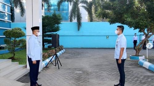 Perumda Air Minum Kota Padang Gelar Upacara Bendera Perdana Masa Pandemi