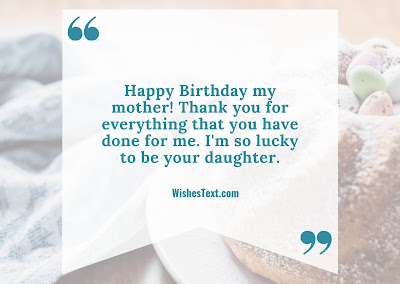 Birthday mother wishes
