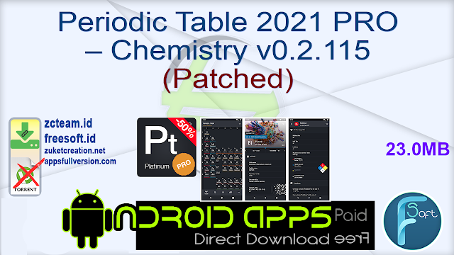 Periodic Table 2021 PRO – Chemistry v0.2.115 (Patched)