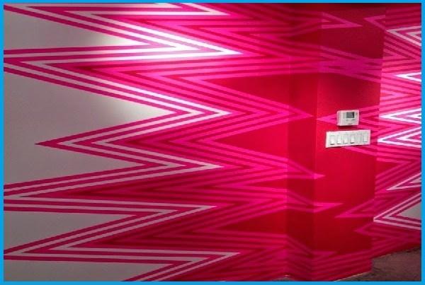 pink neon paint