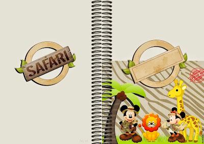 Libro para actividades de Mickey y Minnie de Safari.