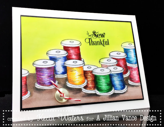 AJVD, Kecia Waters, Copic markers, sew thankful, Becky Schultea