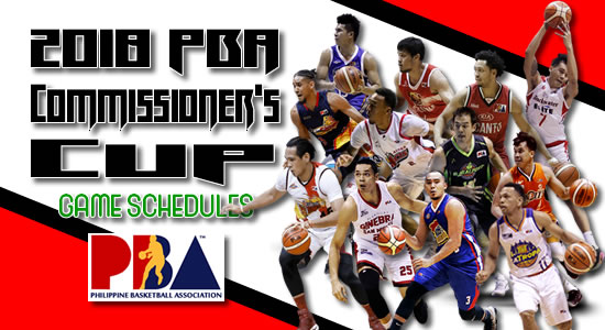 List 2018 PBA Commissioner's Cup Game Schedules/Team Standings/Scores